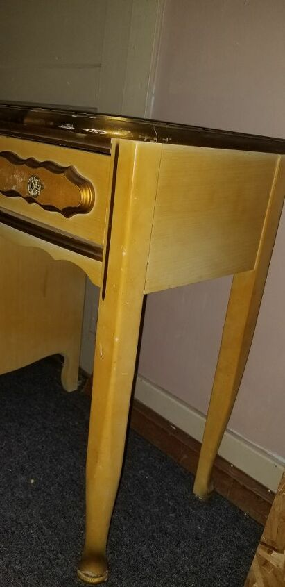 q please help how can i get badly built up nicotine off my old dresser