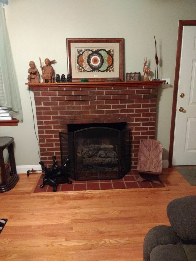 q color suggestions for fireplace