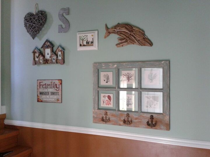 Gallery Wall with Driftwood Whale