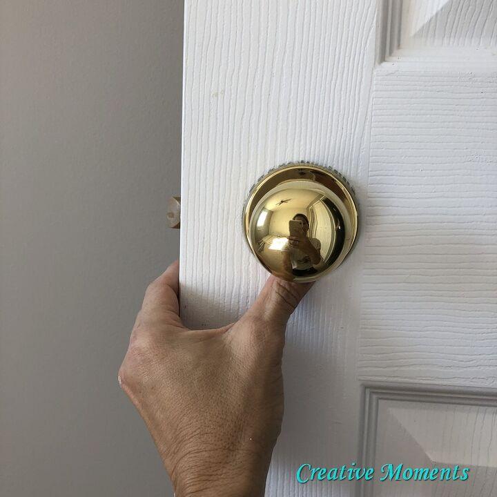 goodbye brassy gold doorknobs