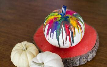 How to Make a DIY Crayon Drip Pumpkin