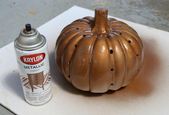 how to make diy luminary pumpkin lanterns