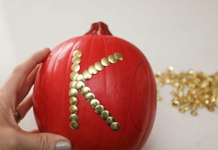 how to make colorful diy push pin pumpkins