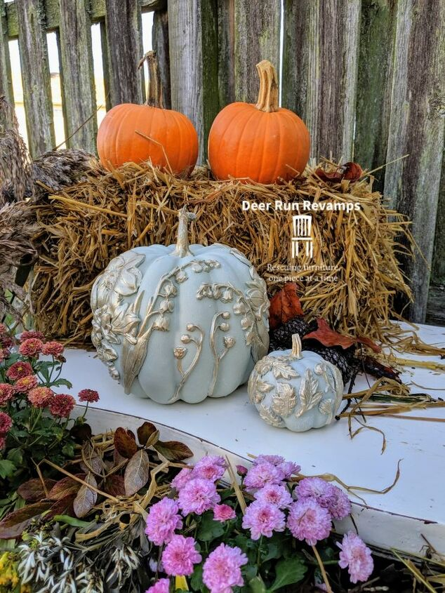 how to make elegant foam pumpkins using silicone molds