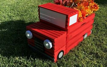 DIY Crate Red Pickup Truck