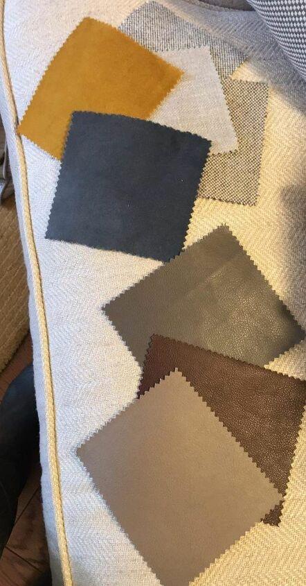 fabric sample throw pillow