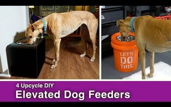 4 Upcycle DIY Elevated Dog Feeder Bowls