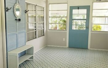 How To DIY Florida Room & Mudroom Remodeling With Peel & Stick Tile!!