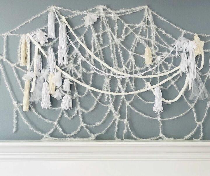 diy spiderweb decoration