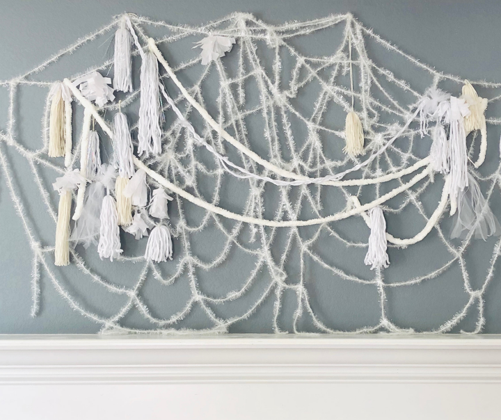 diy spiderweb decoration