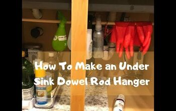 How To Make A Dowel Rod Hanger For Under Your Sink