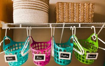 Use S Hooks and a Leaning Towel Rack to Sort Laundry and More...