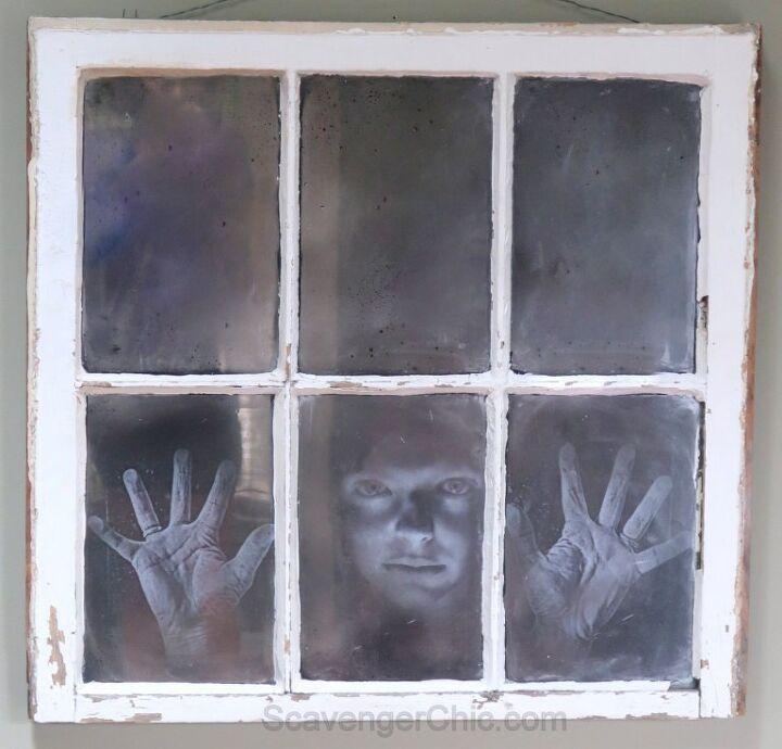 halloween face in the window diy