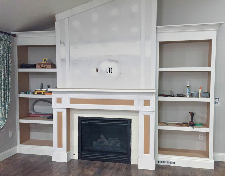 how to build a shaker style fireplace surround mantle