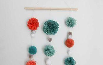 How to Make a DIY Pom Pom Wall Hanging
