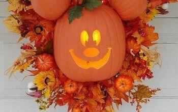 Mickey Mouse Halloween Pumpkin Wreath