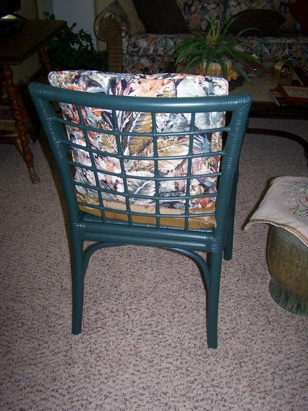 rattan chairs from curbside trash to inside jewels
