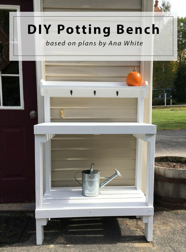 diy potting bench based on plans by ana white