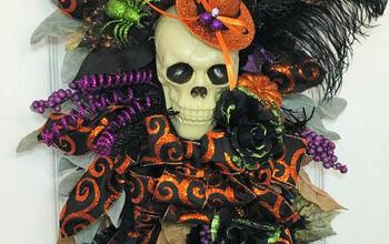How to Make an Elegant Halloween Wreath