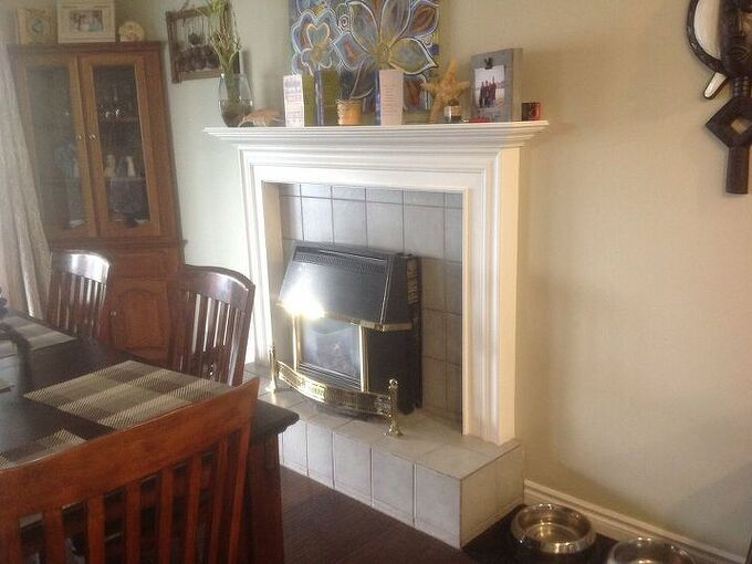 q how can i change this fireplace into something else in a dining room