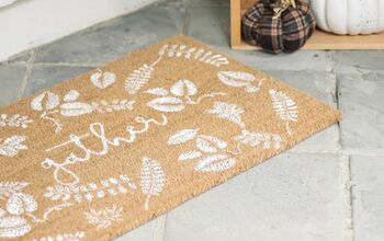 DIY Falling Leaves Fall Door Mat