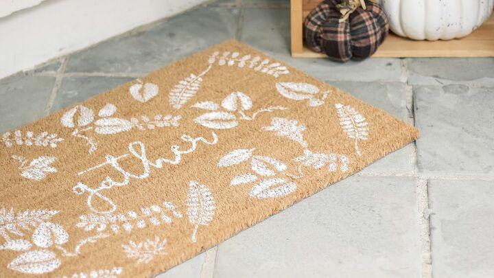 diy falling leaves fall door mat