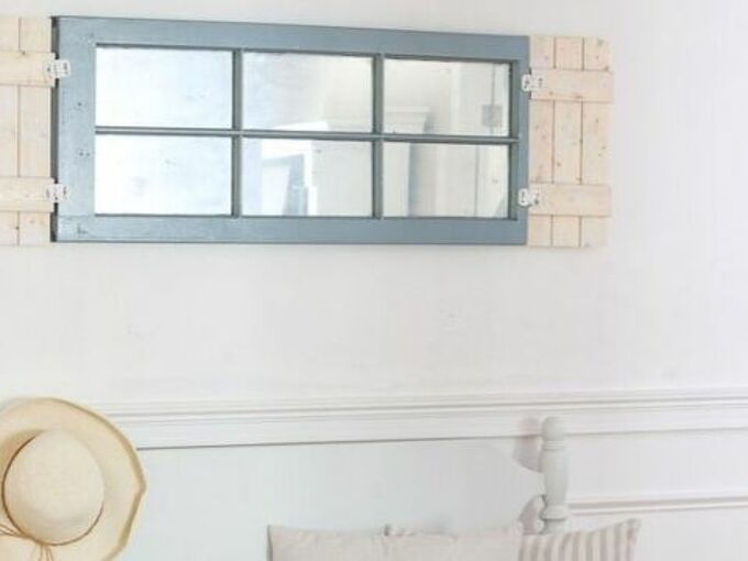 making an old window into a mirror