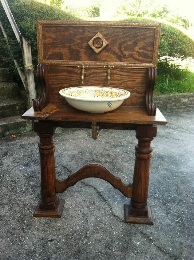 wooden Bathroom Vanity Vessel Sink