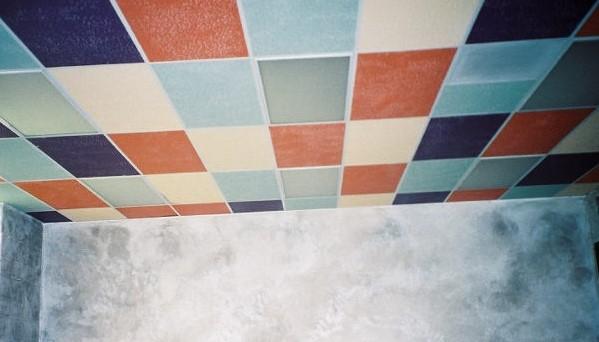 Painted Drop Ceiling Tiles
