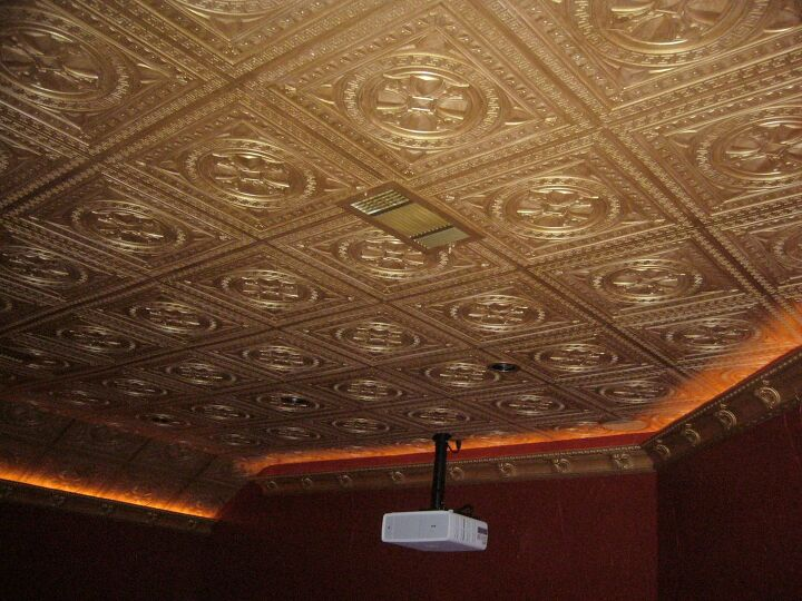 DIY Decorative Ceiling Tiles
