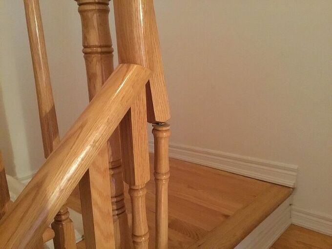 q how can i repair this oak spindle please