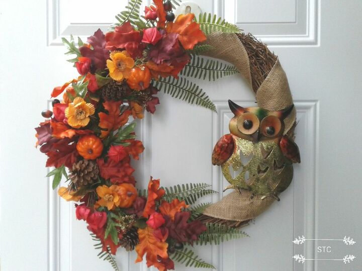 Completed Fall Wreath