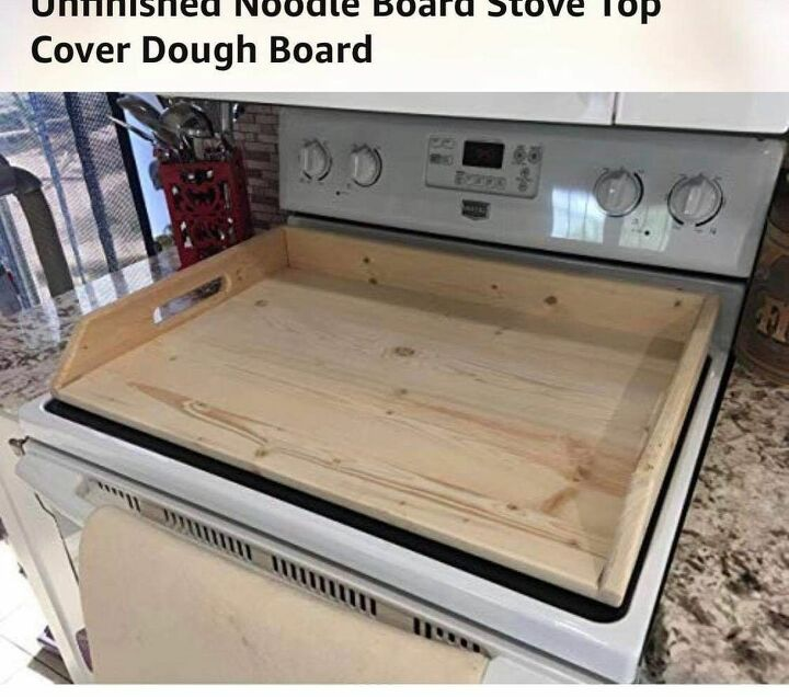 q how do i make a noodle board stove cover