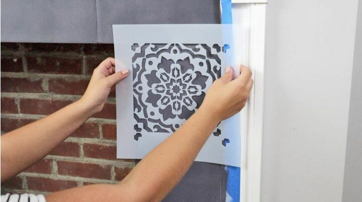 everything you need to know about stenciling a fireplace