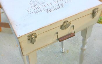 Antique Suitcase Gets a Makeover