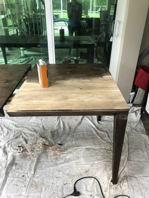 refinishing our dining room table