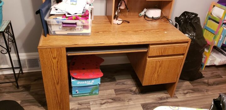 q how to change color on wooden desk to metallic rose gold