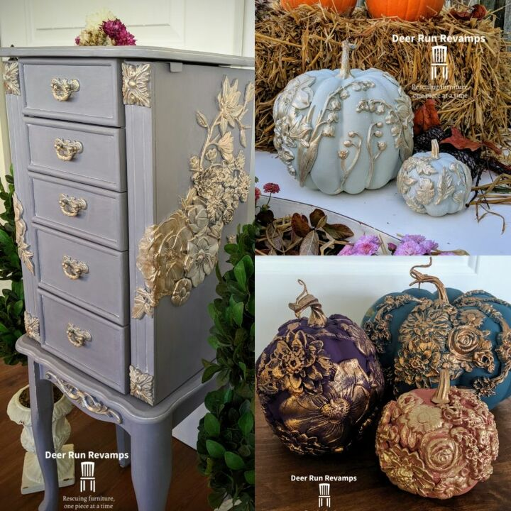 how to get an elegant floral look on furniture with video tutorial