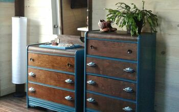Antique Waterfall Dresser - Mirror and Wood Makeover
