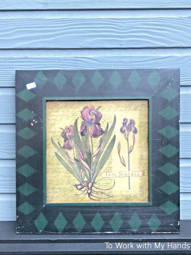 diy door hanger from thrift store framed art
