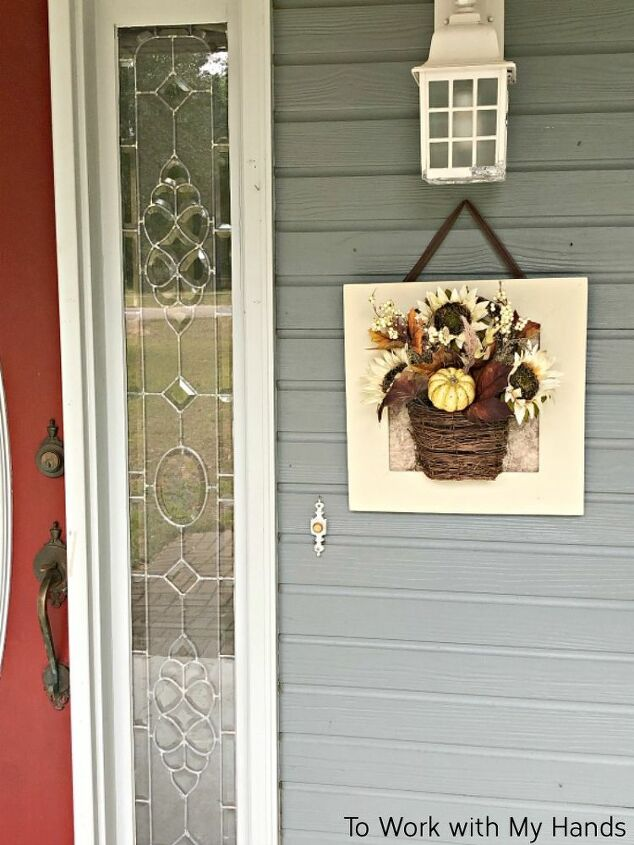 diy door hanger from thrift store framed art