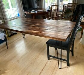 30 Minutes To Make This Diy Butcher Block Table With Hairpin Legs Hometalk