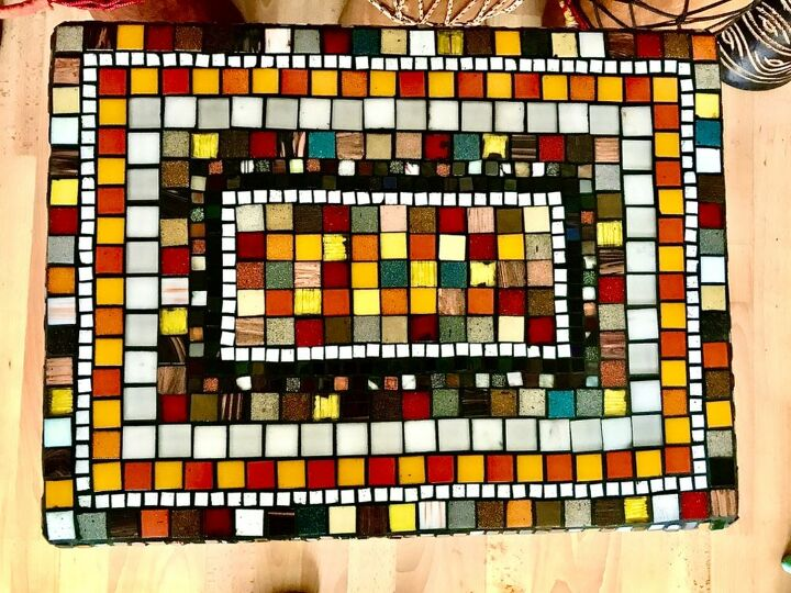 Table top in mosaic