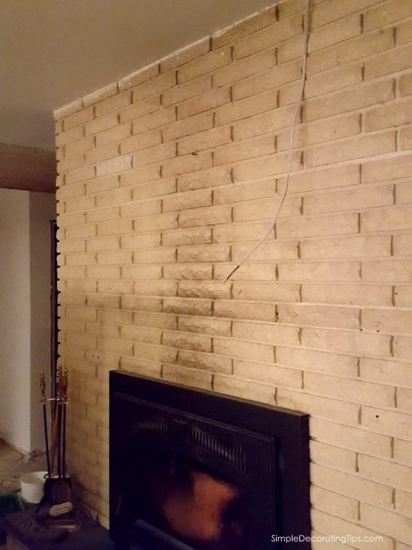 before after fireplace renovation