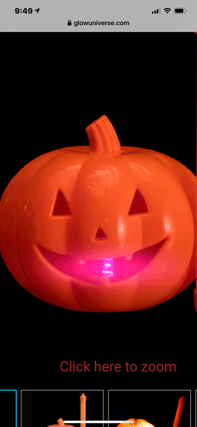 q individually lighted battery pumpkins