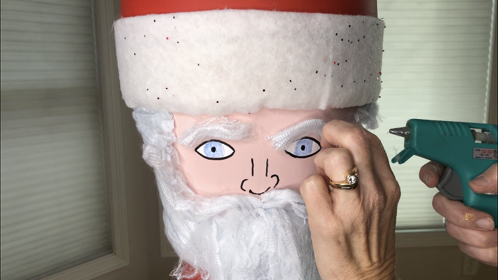 flower pot santa snoman