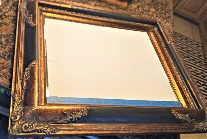 old mirror turned statement piece