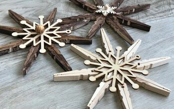 Simple Rustic Snowflakes Ornaments DIY