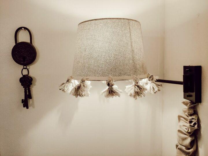 embellished lamp shade