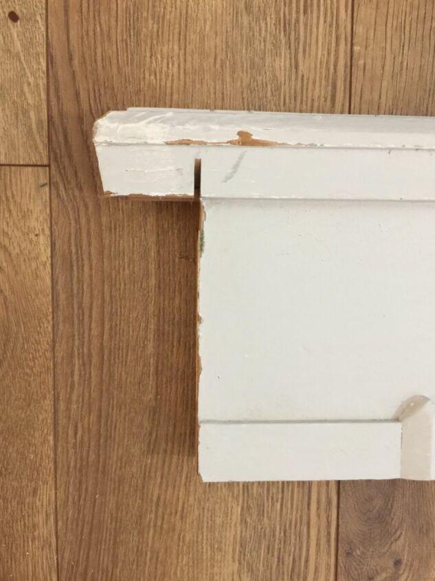 repurposed footboard coatrack